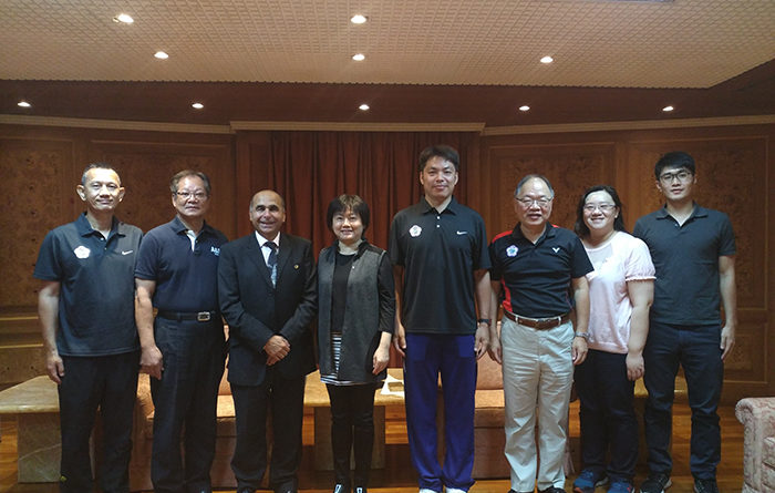An official visit of Mr. Martin Lawrence Bogard, Badminton Technical Director of International Committee of Sports for the Deaf (ICSD)